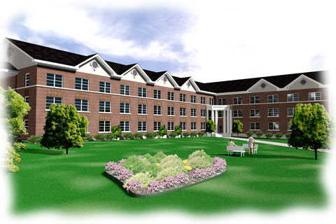 apartment complex rendering