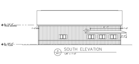 Building elevation CAD drawing