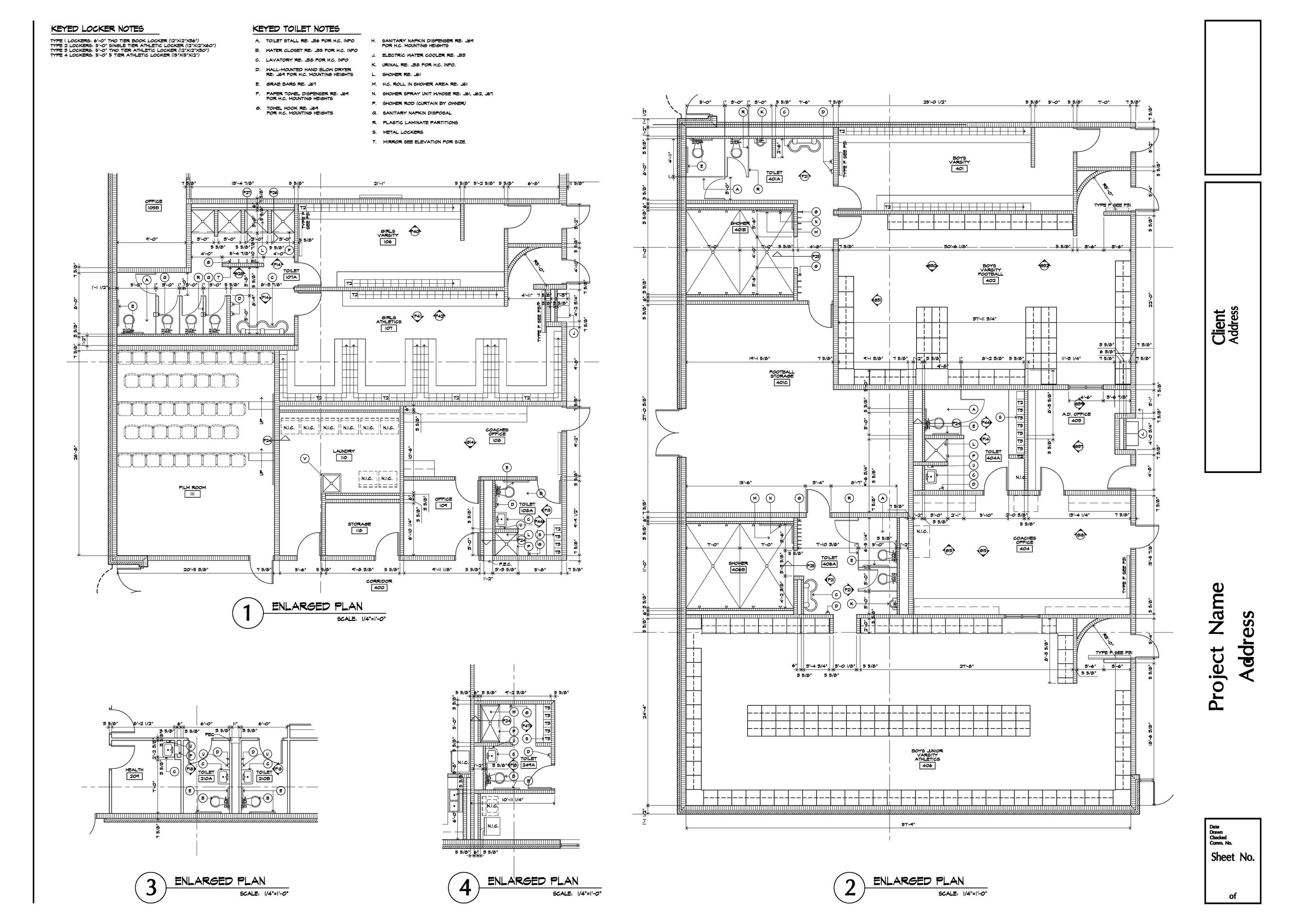 Enlarged Architectural Floor Plan