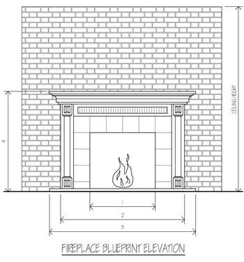 custom fireplace blueprints
