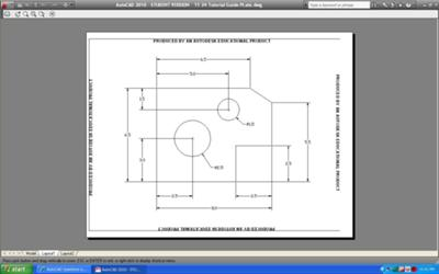 AutoCAD student version plotting problem