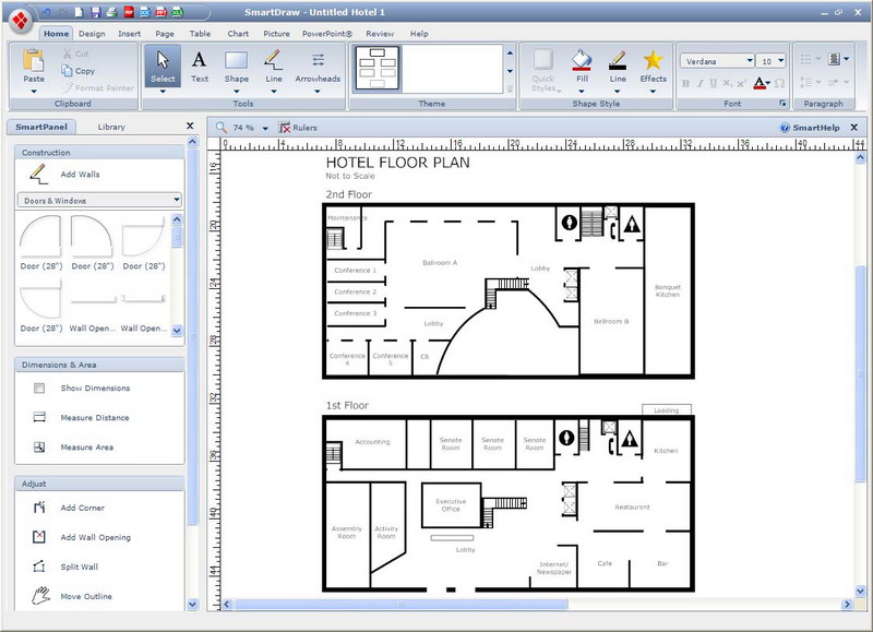 Simple cad program Free blueprint software