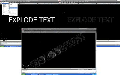AutoCAD Express tools Explode Text step by step.