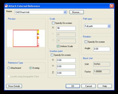 Attach External Reference