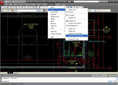 AutoCAD EXPRESS Tools Tip - Automatic Text Numbering