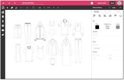 Online fashion design app