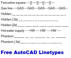 free autocad linetypes
