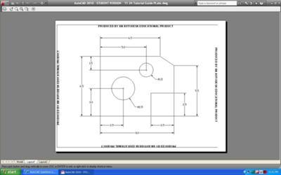 AutoCAD student version plotting problem
