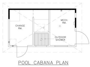 pool house floor plans